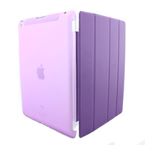 Capa Case Kit Apple Ipad 2 3 4 Smart Cover+traseira + Brinde