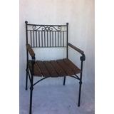 Poltrona Rustica Em Ferro Cadeira Com Braço