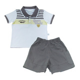 Conjunto Infantil Curto Polo Masculino Green World
