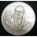 Moneda De Plata 100 Pesos Morelos 1978