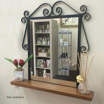 Moldura Para Espelho Com Prateleira 80x80cm