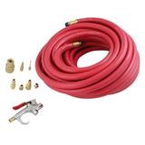 Mangueira 300psi 15m Kit 9pç 3/8 P/ Compressor Ar Pneumático