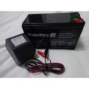 Cargador + Bateria Gel 6v 10ah Ó 12v 7ah Para Vehiculo Niño
