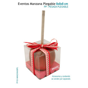 12 Cajas Para Manzana,caja De Acetato 8x8x8 Plegable Pegada