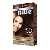 Issue 3d Kit Gloss Tintura N-5/13 Castaño Chocolate X 3u