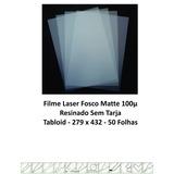 P/impressoras Laser Filme Fosco 100µ Tabloid 279x432 Cx 100