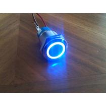 5 Pzs. Botón Pulsador Tipo Interruptor Arillo Iluminado 19mm