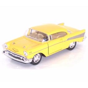 Carrinho Chevy Bel Air 1957 Amarelo Antigo Ferro + Fricção