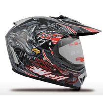 Casco Cross V-can V370 C/ Visor Enduro 2014 En Freeway Motos