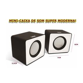 Mini Caixa De Som Portatil Usb E P2 3w + Controle De Volume