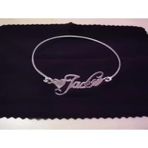 Bracelete,pulseira,nome Manuscrito Em Prata 950 K C/garantia