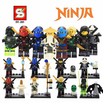 Kit 8 Bonecos Boneco Lego Ninja Ninjago - Pronta Entrega