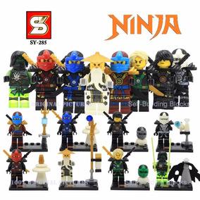 Kit 8 Bonecos Compativel Lego Ninja Ninjago - Pronta Entrega