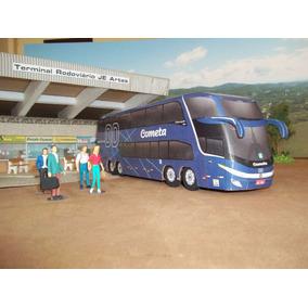 Miniatura De Ônibus Cometa G7 1800 Dd