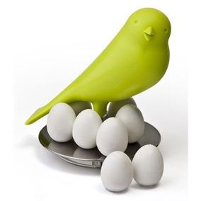 Gorrión Con Imanes De Huevos Verde