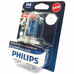 Lampada Phillips Super Branca Motos Crystal Vision H4 35/35w