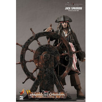 Jack Sparrow Hot Toys Dx06 Piratas Caribe Johnny Deep Novo