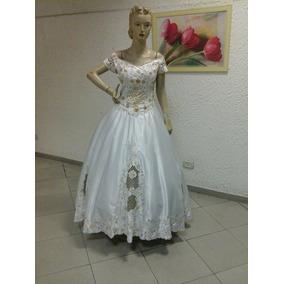Vestido De Noiva Tradicional Dourado (na107)