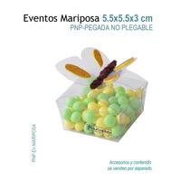 24 Cajas De Acetato En Forma De Mariposa De 5.3x5.3x2.5 Xm