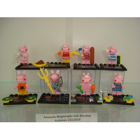 Kit Festa Peppa Pig George Pig Mamãe Pig Papai Pig 8 Bonecos
