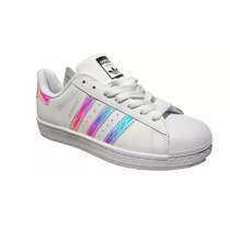 Adidas Superstar Iridescent Originales $1350 Woman Tornasol