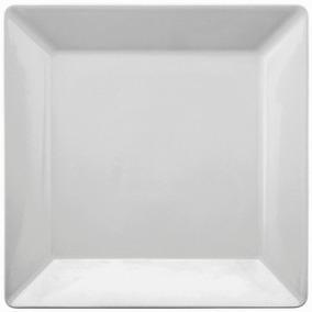 Prato Raso Quadrado Quartier Branco 26,5cm Porcelana Oxford
