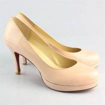Sapato De Marca Couro Envernizado 35 Sola Vermelha Assinada