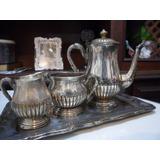 Jogo De Chá E Café De Prata Bellini Silver Plate