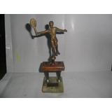 Trofeo Copa Torneo Americano Tenis Raqueta Bronceria Figura
