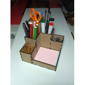 Porta Lapices Organizador En Mdf Fibrofacil