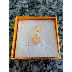 Leão Jóias Estrela De Davi Ouro 18k Pequena - Certificado