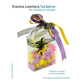 24 Cajas De Acetato En Forma De Lonchera,caja De Mica