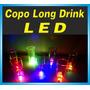 100 Copos Long Drink Led - Pisca-pisca - Balada - Festa