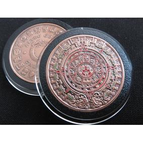 Moneda Calendario Azteca Acabado Antiguo