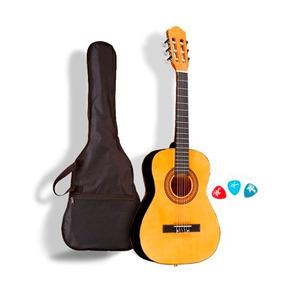 Guitarra Criolla Clásica + Funda + Puas + Envio