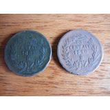 Monedas (2) Un Centavo 1889 Y Otro 1890 De México