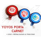 Yoyos Porta Carnet + Logo + Resina,calidad A1, Publicidad