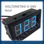 Voltimetro 12v 3-30v Dc Tester Medidor Digital Batería Azul