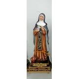 Escultura Imagem Santa Edwigwes 32cm Resina Pobre Endividado