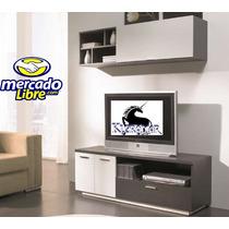 Mueble Para Tv, Centro De Entretenimiento, Plasma, Librero