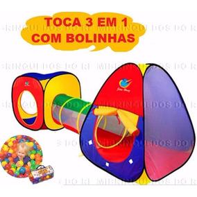 Toca Barraca Infantil - 3 Em 1 + 100 Bolinhas