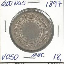 Moeda Do Brasil 200 Reis 1897 Niquel Republica V050 -4427