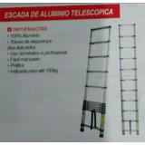 Escada Telescóp Portátil Mor 100%alum Sup Até150kg 10 Degr