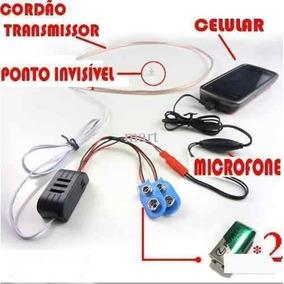 Micro Escuta Espiã (ponto Eletronico) Espionagem Segurança