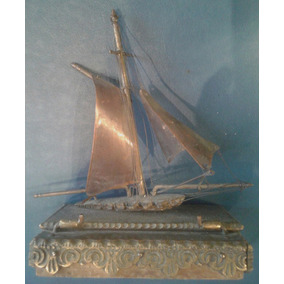 Antigua Caja Bronce Cobre Barco Velero Marina Naval 13 X 9
