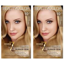 2 Tinturas Beauty Color Kit 10.11 Louro Claríssimo Platinado