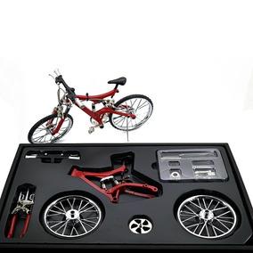 Miniatura Bicicleta Vermelha Track Moutain Bike Mini Modelo