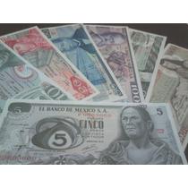 Coleccion De 7 Billetes Mexicanos Sin Circular!!!