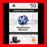 Play Station Network Card $50 Psn Store U. S. A (oferta )