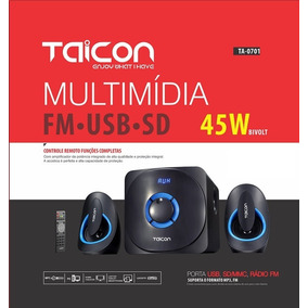 Caixa De Som Pc Tablet Notebook Tv Celular Bluetooth 48w